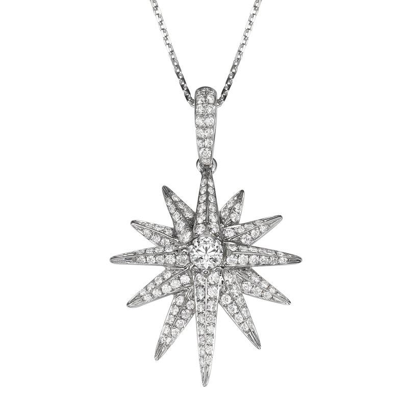 Pave Diamond Star Pendant