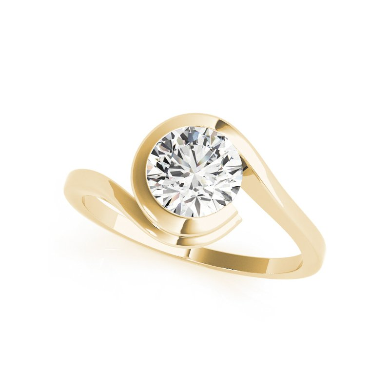 Bezel Bypass Solitaire Engagement Mounting