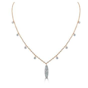 14K Gold Diamond Dangle Necklace