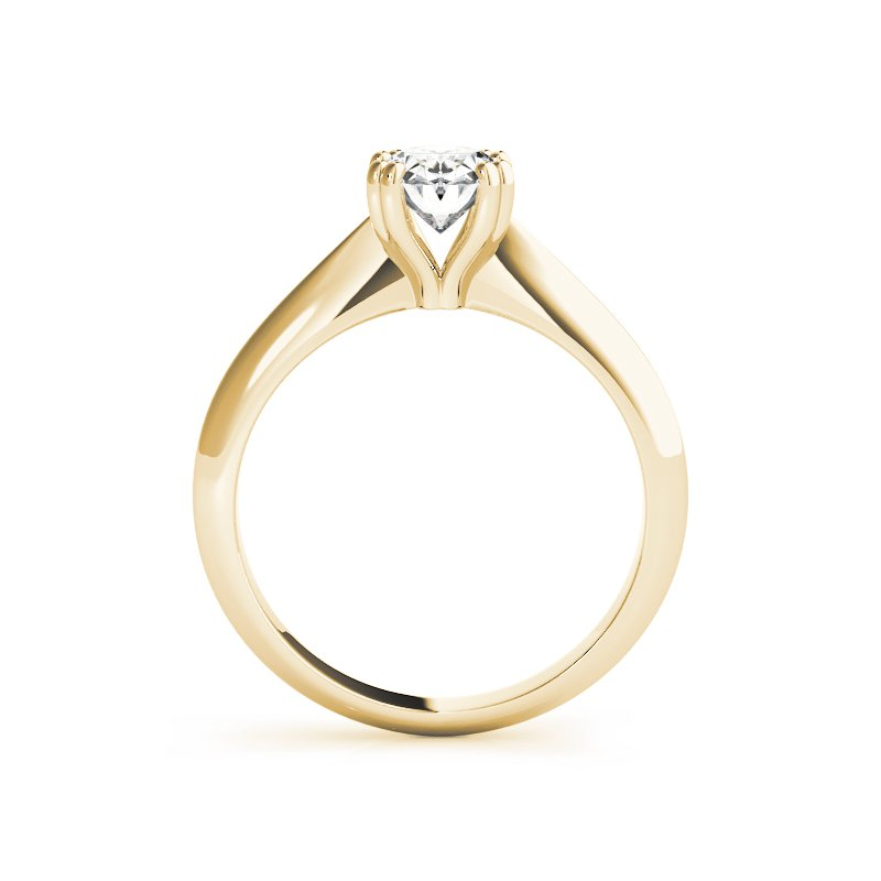 Double Prong Tapered Solitaire Engagement Ring Mounting
