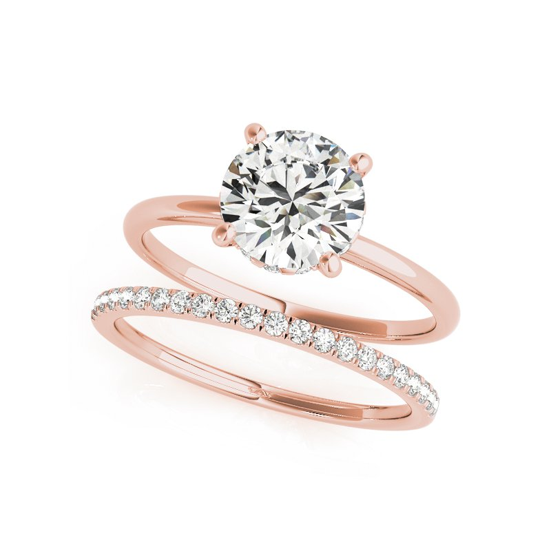 Hidden Halo Solitaire Engagement Ring Mounting