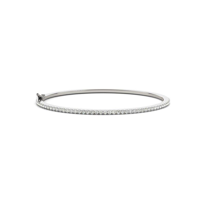 Classic Diamond Prong Bangle Bracelet