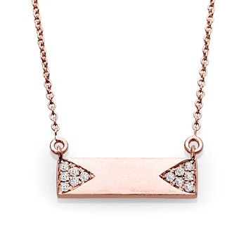 Modern Diamond And Gold Bar Pendant