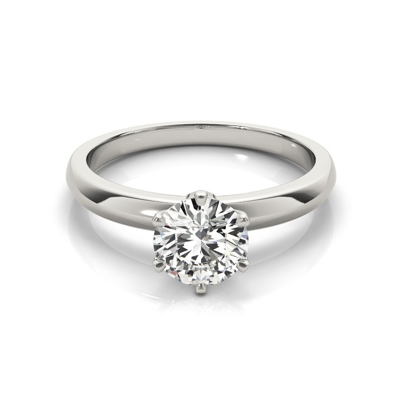 Six Prong Solitaire Engagement Ring Mounting