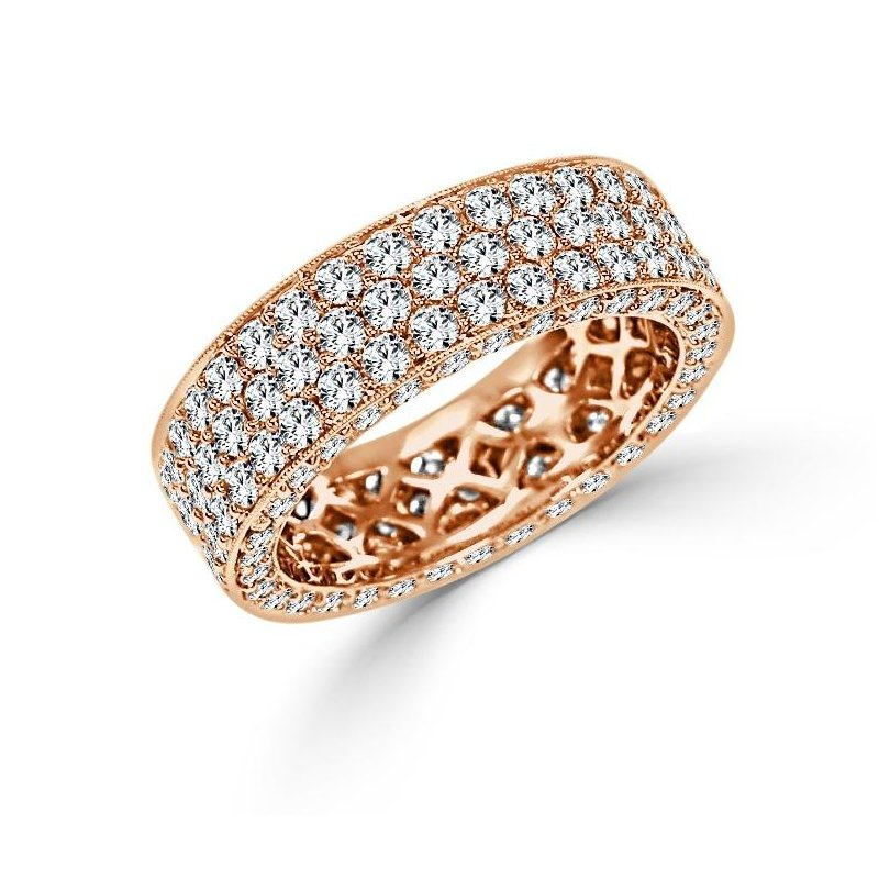 18K Gold Pave Diamond Ring