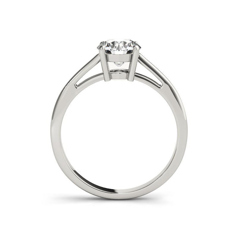 Classic Cathedral Solitaire Engagement Ring Mounting