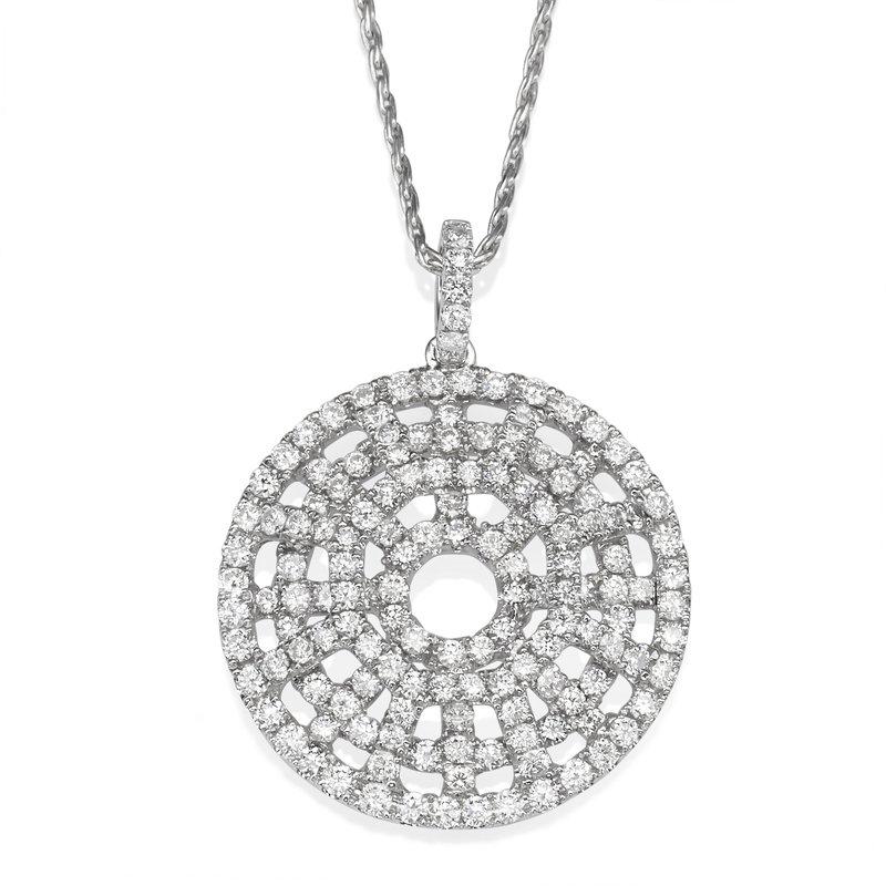 Pave Circular Diamond Pendant