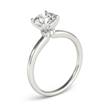 Hidden Halo Solitaire Engagement Mounting