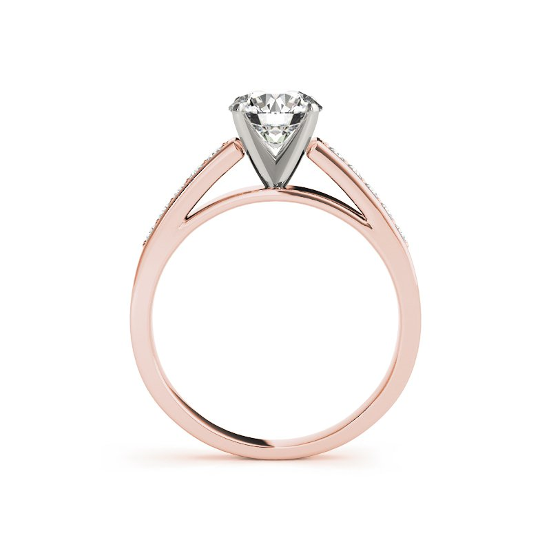 Classic Thin Channel Engagement Ring Mounting