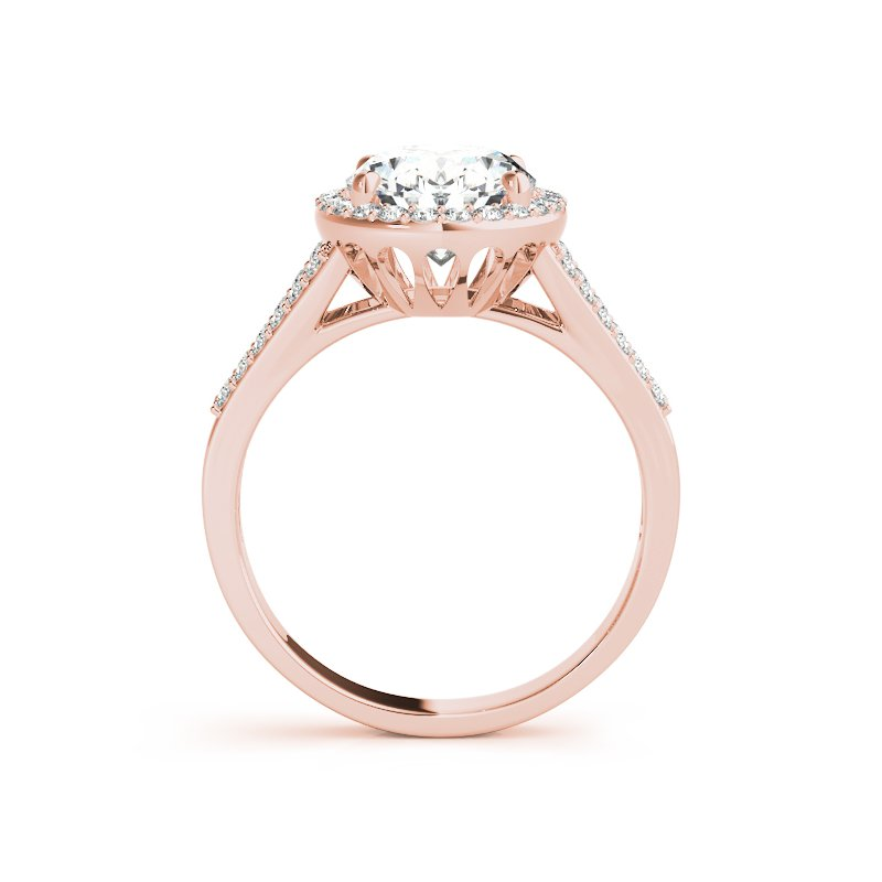 Classic Oval Halo Split Band Engagement Ring Mounting
