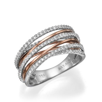 14K Two-Tone Multiple Band Fashion Ring