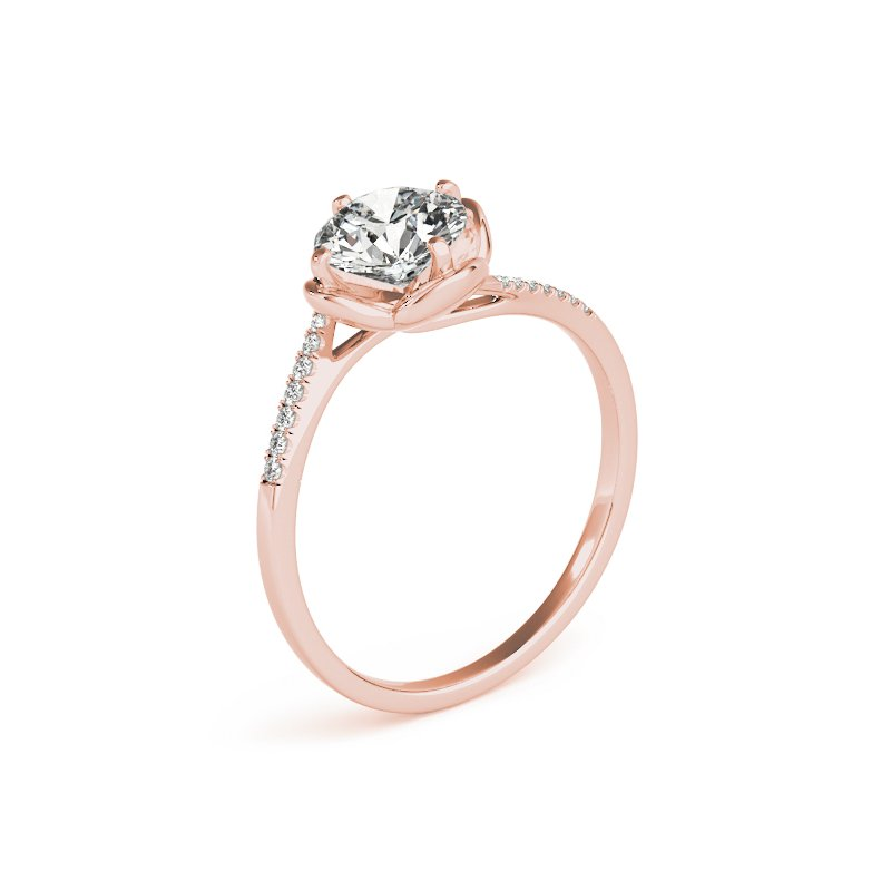 Floral Diamond Band Engagement Mounting