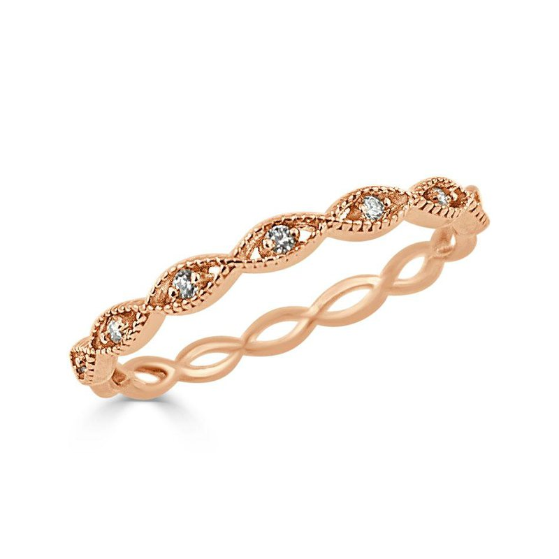 14K Gold Delicate Scalloped Band