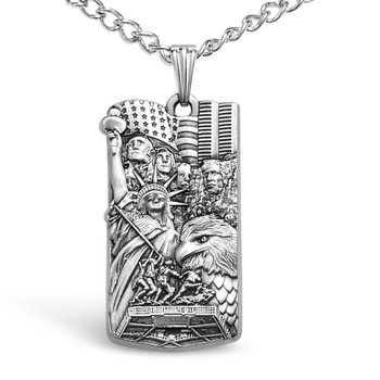 "Hero Medal Pendant with 24"" Chain"