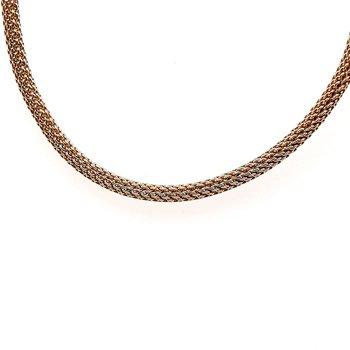 14K Yg Fancy Gold Necklace 17.1G