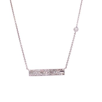 14K Wg 0.28Ctw Diamond Bar Effy Pendant