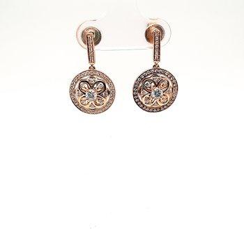 14K Yg 0.58Ctw Diamond Clyde Duneier Dangle Earrings