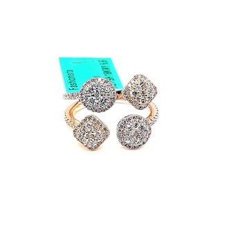 18K W/Yg 1.15Ctw Diamond Fashionista Ring 6.6G