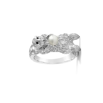 Sea Otter Ring w/Pearl