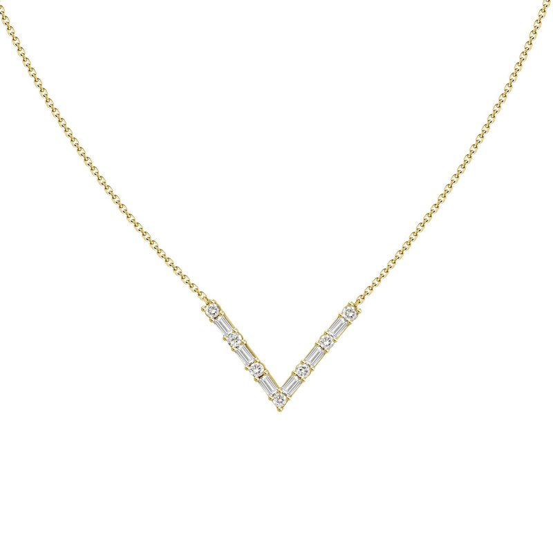 Diamond V Necklace