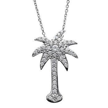 Small Diamond Palm Tree Pendant