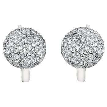 Pave Dome Earrings