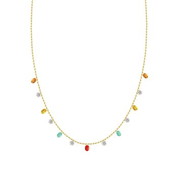 Rainbow Drop Necklace