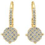 Diamond Disc Drop Earrings