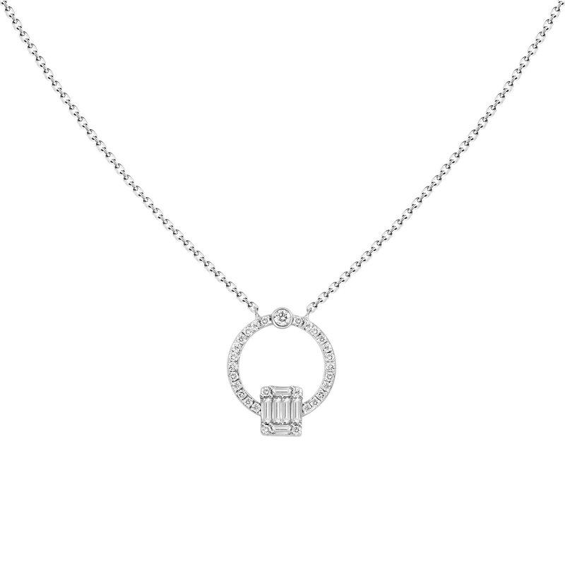 Diamond Doorknocker Necklace
