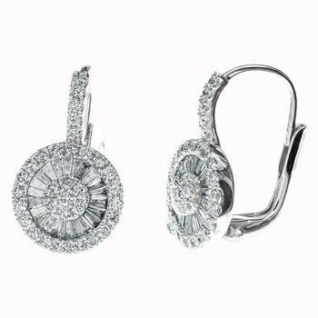 Diamond Pinwheel Drop Earrings