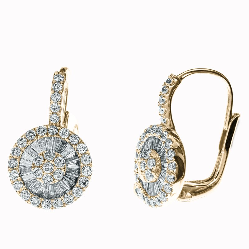 Diamond Pinwheel Drop Earrings