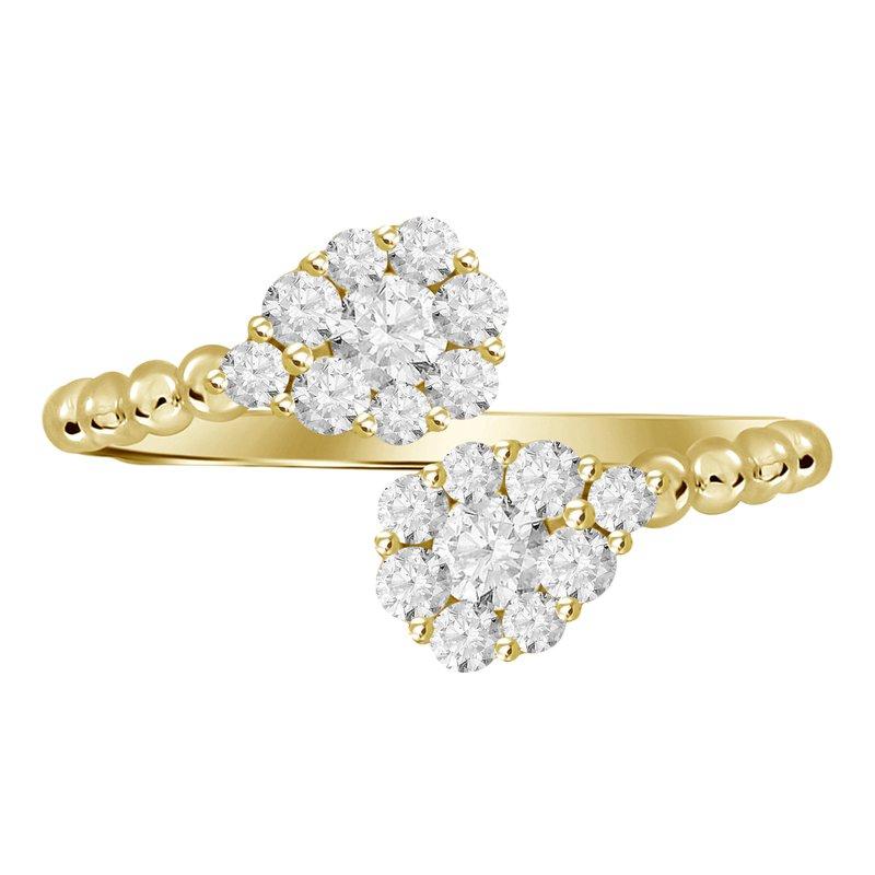 Pear Shape Diamond Bypass Ring