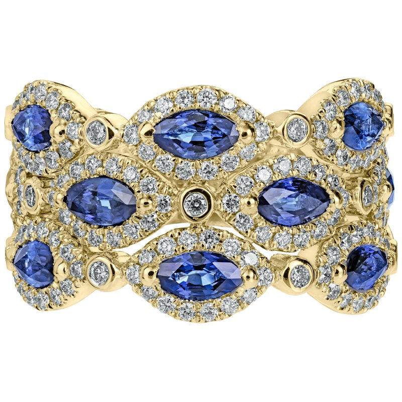 Marquise Shaped Sapphire Band