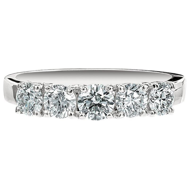 Five Diamond Round Band