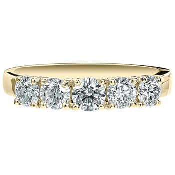 Five Diamond Round Band