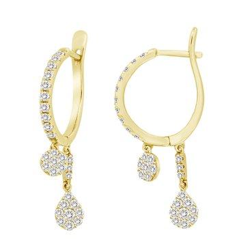 Diamond Double Drop Earrings