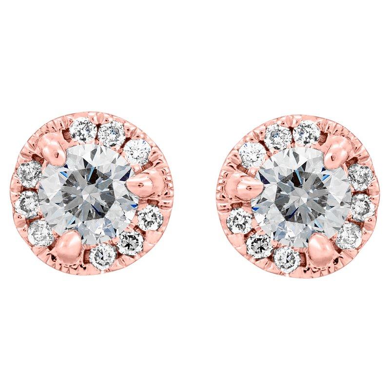 Petite Diamond Halo Stud Earrings