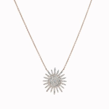 Diamond Sunburst Pendant