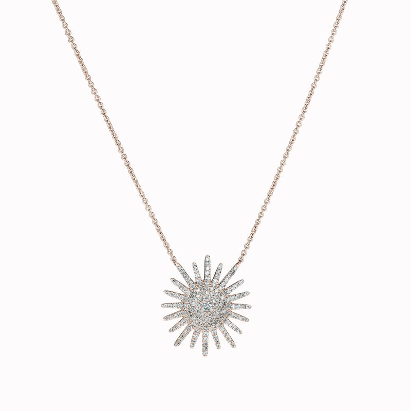Diamond Sunburst Pendant
