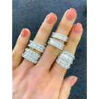 Baguette and Round Eternity Band