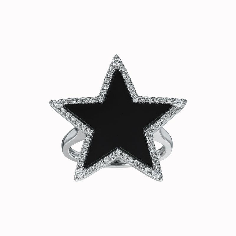 Diamond and Shell Star Ring