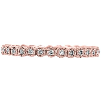 Hexagon Diamond Eternity Band
