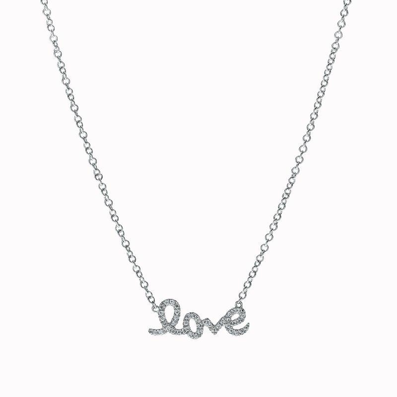 """Small Script """"Love"""" Necklace"""