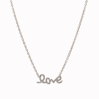 "Small Script ""Love"" Necklace"