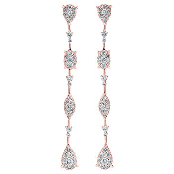 Multi Shape Drop Earrings