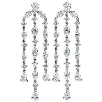 Multi-Diamond Shape Chandelier Earrings