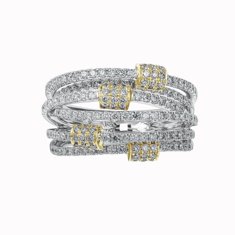 Six Row Diamond Orbit Ring