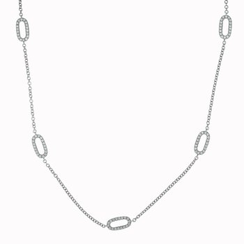 Diamond Open Oval Necklace