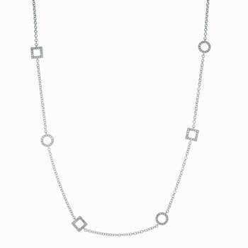 Diamond Mixed Shape Necklace