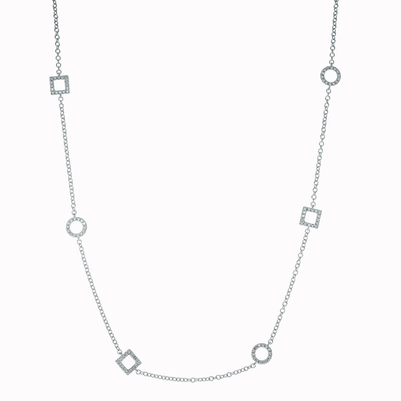 Diamond Mixed Shape Necklace